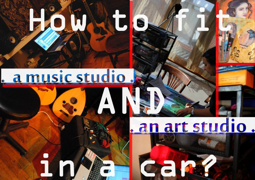 art and music studio in a car - special discound on astrakan project album