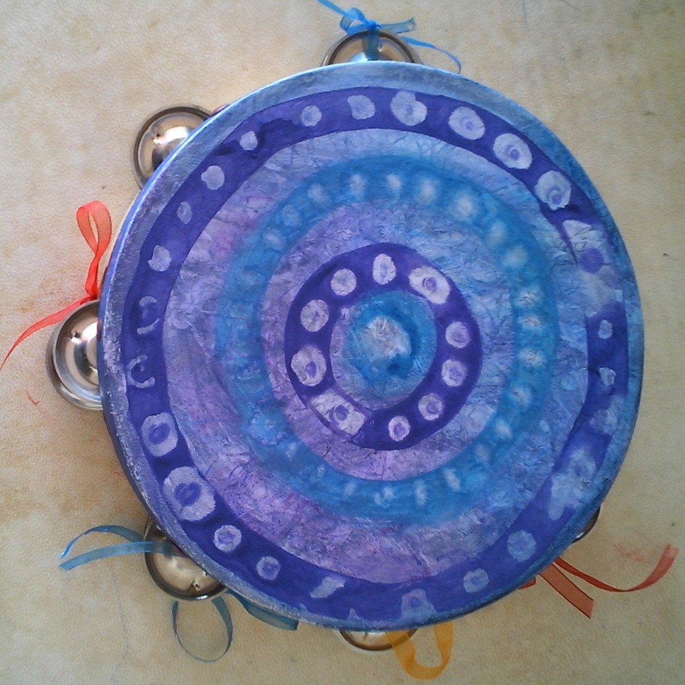 diy musician painted tambourine get visual