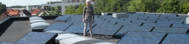 solar panel roof system co2 free venue