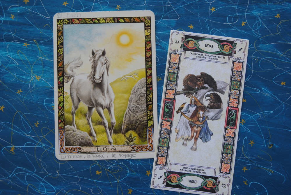 Epona Horse tarot Cards - Horse Symbol for Celts
