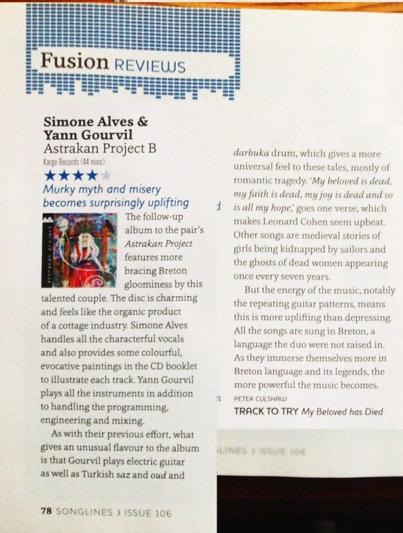 Songlines review Astrakan Project