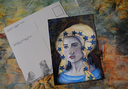 carte unique A5 inês de castro artwork brezhoneg